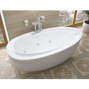 Spa Escapes Capricia 71'' x 38.37'' Oval Freestanding Whirlpool Jetted Bathtub