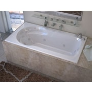 Spa Escapes Grenada Dream Suite 59.13'' x 31.5'' Rectangular Air & Whirlpool Jetted Bathtub; Left
