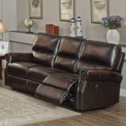 Amax Nevada Leather Reclining Sofa