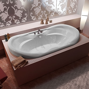 Spa Escapes Antigua 70'' x 41'' Oval Air & Whirlpool Jetted Bathtub w/ Waterfall and Center Drain