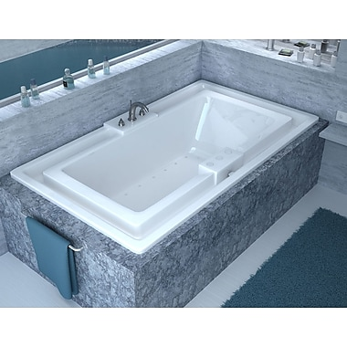 Spa Escapes Barbados 78'' x 45'' Endless Flow Air/Whirlpool Jetted Bathtub w/ Center Drain