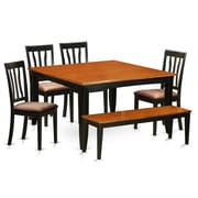 Wooden Importers Parfait 6 Piece Dining Set; Microfiber Upholstery
