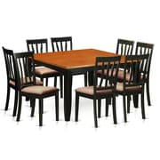Wooden Importers Parfait 9 Piece Dining Set; Microfiber Upholstery