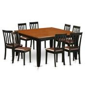 Wooden Importers Parfait 9 Piece Dining Set; Faux Leather