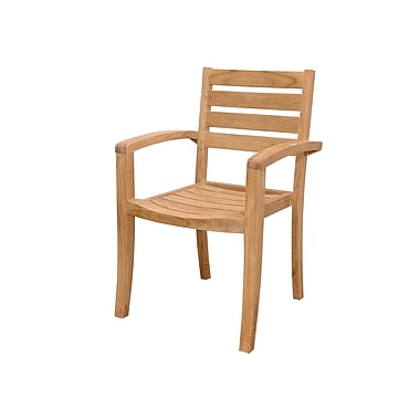 Anderson Teak Catalina Stacking Patio Dining Chairs (Set of 4)