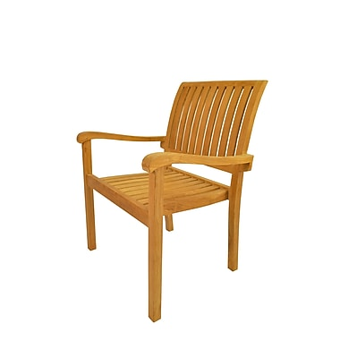 Anderson Teak Aspen Stacking Patio Dining Chair (Set of 4)