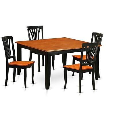 Wooden Importers Parfait 5 Piece Dining Set; Black / Cherry