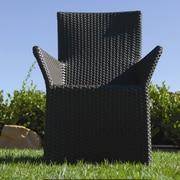 Koverton Soho Dining Arm Chair w/ Cushion; Canvas Mineral Blue