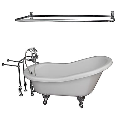 Barclay 67'' x 30'' Soaking Bathtub Kit; Chrome