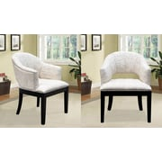 BestMasterFurniture French Print Living Room Barrel Chair (Set of 2)
