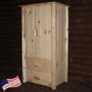 Lakeland Mills Frontier Armoire; Unfinished