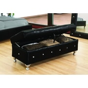 BestMasterFurniture Upholstered Storage Bedroom Bench; Black