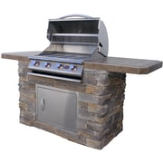CalFlame 4-Burner Built In Propane Gas Grill w/ Cabinet