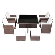 Outsunny 9 Piece Dining Set