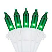 Kringle Traditions 50 Mini Lights 4'' Lead; Green