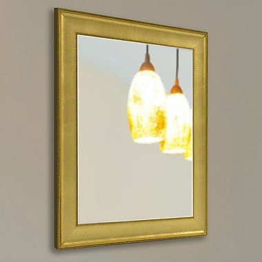 Rayne Mirrors Ava Vintage Gold Mirror; 35'' H x 29'' W