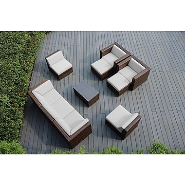 Ohana Depot Ohana 10 Piece Deep Seating Group w/ Cushions; Sunbrella Natural