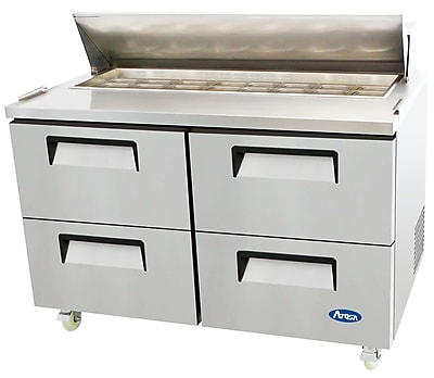 Atosa Refrigerated Four-Drawer Sandwich Prep Table