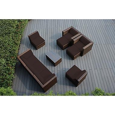 Ohana Depot Ohana 10 Piece Sunbrella Sectional Set w/ Cushions; Brown