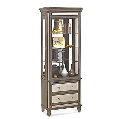 Philip Reinisch Co. Presidio Lighted China Cabinet; Rustic Oak