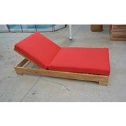 Trijaya Living Chaise Lounge w/ Cushion; Black