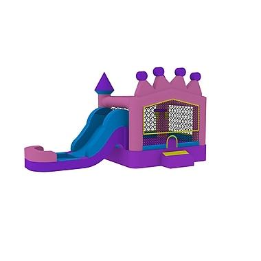 JumpOrange 13' x 24' Princess Tiara Athletic Wet Dry Combo Bounce House