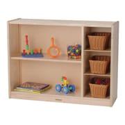 Constructive Playthings Premium Multi-Level Portable 3 Compartment Shelving Unit w/ Bins