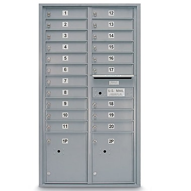 PostalProductsUnlimitedInc. 20 Door Front Load 4C Horizontal Mail Center w/ 2 Parcel Lockers