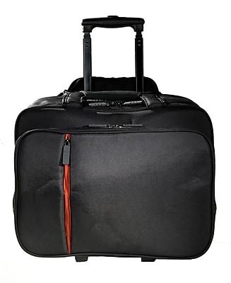 Eco Style Luxe Black/Orange Twill/EVA Rolling Case for 16.1