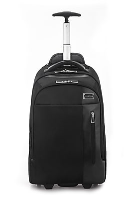 "Eco Style Tech Executive Rolling Backpack for 17"" Laptop, Black (ETEX-RB17)"