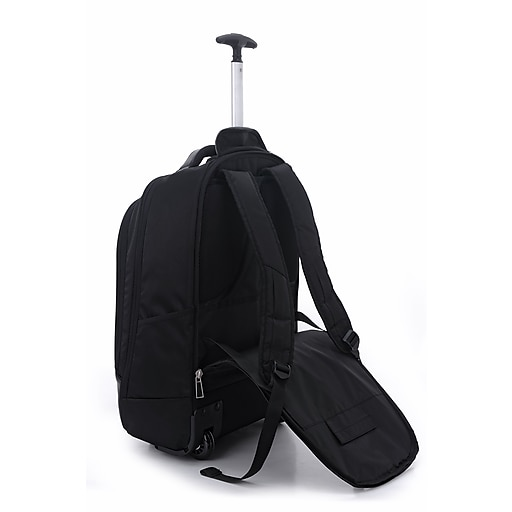 Eco Style Tech Executive Rolling Backpack for 17