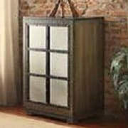 LampsPerSe Criss-cross Door Wood Cabinet