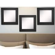 Rayne Mirrors Ava Black Satin Wide Wall Mirror (Set of 3)