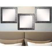 Rayne Mirrors Ava Safari Silver Wall Mirror (Set of 3)