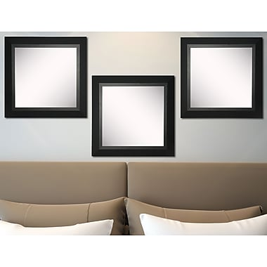 Rayne Mirrors Ava Attractive Matte Black Wall Mirror (Set of 3)