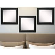 Rayne Mirrors Ava Attractive Matte Black Wall Mirror (Set of 3)