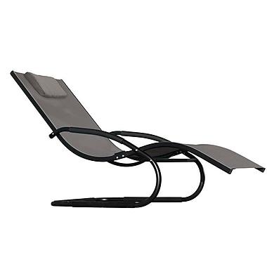 Vivere Hammocks Wave Chaise Lounge; Black Chrome