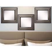 Rayne Mirrors Ava Antique Silver Wall Mirror (Set of 3)