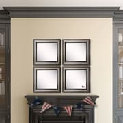Rayne Mirrors Ava Antique Silver Wall Mirror (Set of 4)