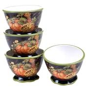 Certified International Botanical Harvest Ice Cream Bowl (Set of 4)