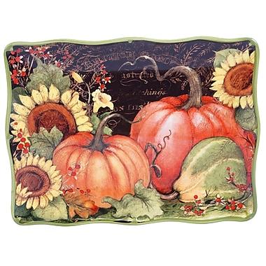 Certified International Botanical Harvest Rectangular Platter