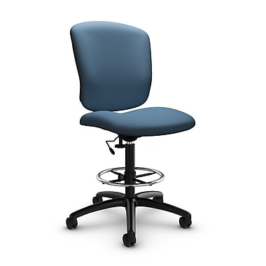 Global® (5339-6 IM75) Supra-X Drafting Task Chair, Imprint Ocean Fabric, Blue