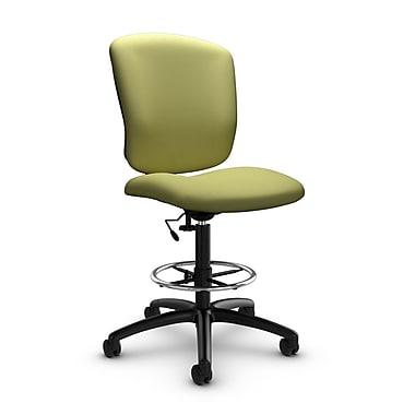 Global® (5339-6 IM78) Supra-X Drafting Task Chair, Imprint Celery Fabric, Green