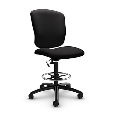 Global® (5339-6 IM84) Supra-X Drafting Task Chair, Imprint Licorice Fabric, Black