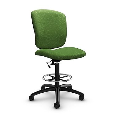 Global® (5339-6 MT27) Supra-X Drafting Task Chair, Match Green Fabric, Green