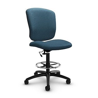 Global® (5339-6 MT33) Supra-X Drafting Task Chair, Match Arctic Fabric, Blue
