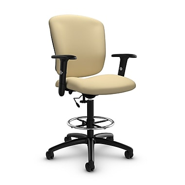Global® (5338-6 IM70) Supra-X Drafting Task Chair, Imprint Almond Fabric, Tan