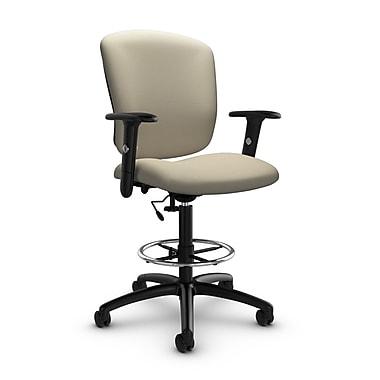 GlobalMD – Chaise fonctionnelle pour dessinateur Supra-X (5338-6 IM72), tissu imprimé sable, brun clair