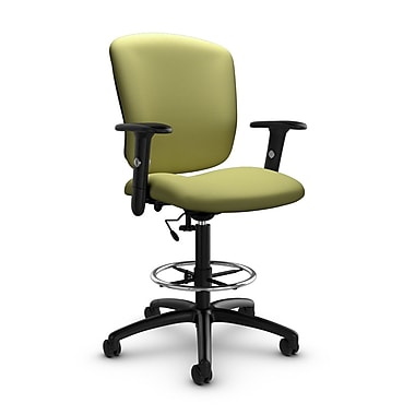Global® (5338-6 IM78) Supra-X Drafting Task Chair, Imprint Celery Fabric, Green