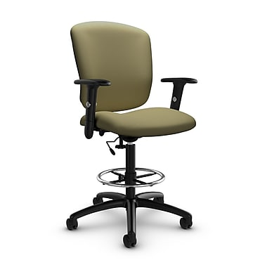 Global® (5338-6 IM79) Supra-X Drafting Task Chair, Imprint Oregano Fabric, Green